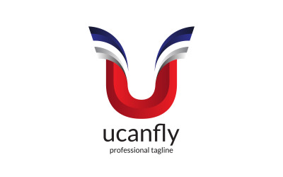Letter U - You Can Fly Logo Design