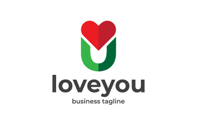 Letter U - Love You Logo Design