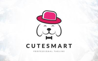 Cute Cool Animal Pet Dog Logo Design