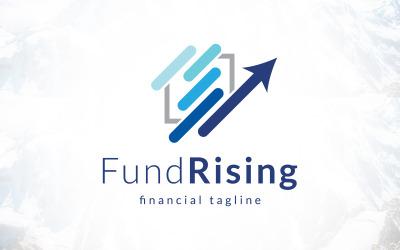 Graph Market Fund Rising Financial Logo Design