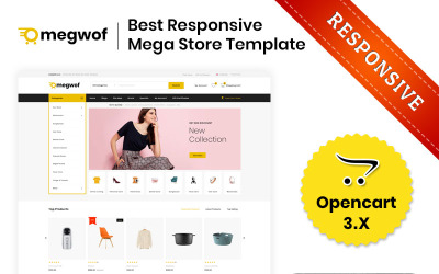 Megwof - Mega Mağaza OpenCart Şablonu