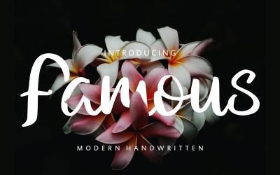 Famous | Modern Handwritten Font