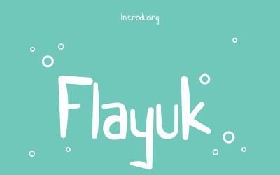Flayuk - Display Font