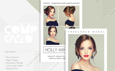 Holly Hamilton - Modeling Comp Card - Corporate Identity Template