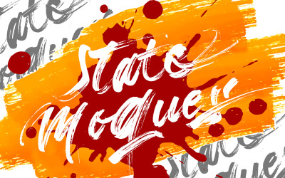State Moques   Brush Cursive Font