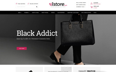 1Store - Multipurpose BigCommerce Theme drivs av Stencil