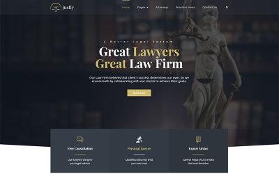 Justly - Ügyvéd és ügyvéd WordPress téma