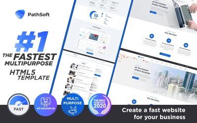 PathSoft - # 1 O multiuso mais rápido   Modelo de site HTML de comércio eletrônico