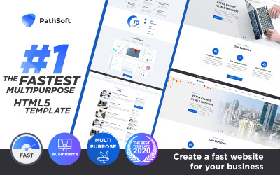 PathSoft - #1 le multifonction le plus rapide | Modèle de site Web HTML de commerce électronique
