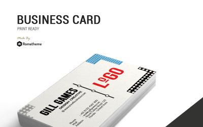 Logo Memphis - Business Card - Corporate Identity Template
