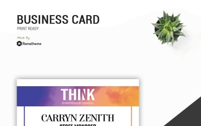 Think - Business Card - Corporate Identity Template