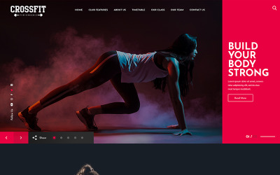 Crossfit Fitness One Page PSD Template