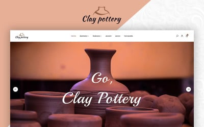 Pottery pot ceramics art store opencart template