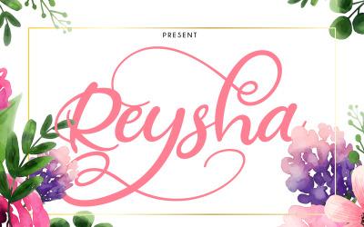 Reysha | Flower Cursive Font