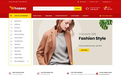 Shopaxy - Тема PrestaShop для многоцелевого магазина