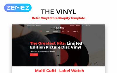 The Vinyl - Музыкальный магазин для электронной коммерции Creative Shopify Тема