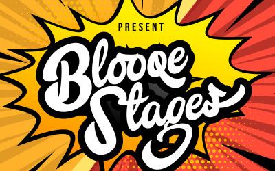 Blooqe Stages | Fonte cursiva em negrito