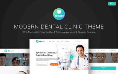 Dentora - Dental Clinic motyw WordPress Elementor
