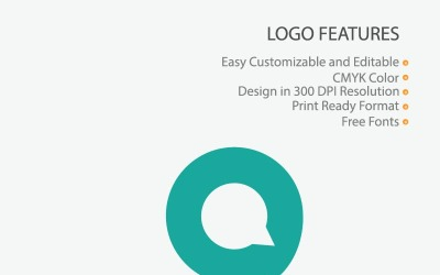 Chat A Letter Logo Template