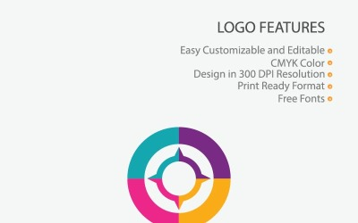 Colorful Compass Logo Template