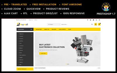 Buymall többcélú áruház PrestaShop téma