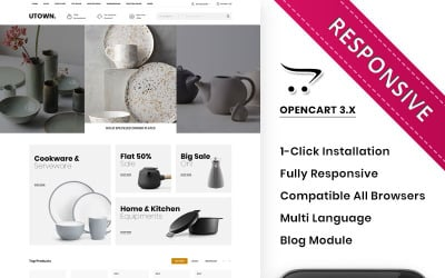 Utown - The Mega Kitchen Store OpenCart Template