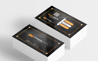 Black New Style Business Card - Corporate Identity Template