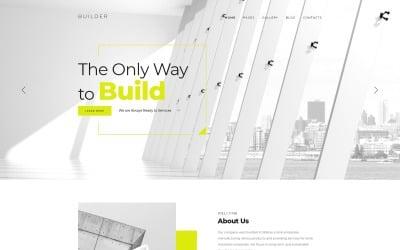 Builder - Plantilla Joomla corporativa de varias páginas para empresa de construcción