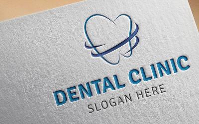 Sjabloon met logo voor tandheelkundige kliniek
