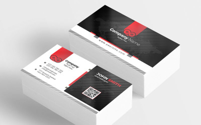 Simple Company New Business Card - Corporate Identity Template