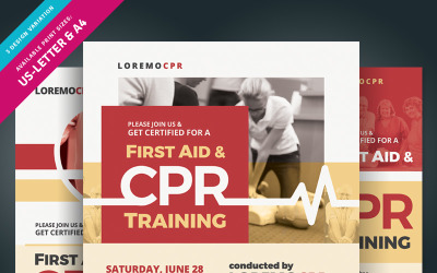 First Aid & CPR Training Flyer - Corporate Identity Template