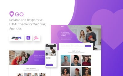 bootstrap dating tema site- ului