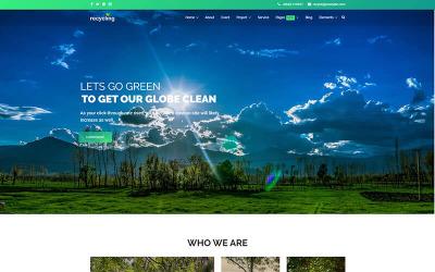 Переработка - шаблон Joomla для некоммерческих / экологических организаций