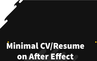 Devil Roy Barman Minimal Resume After Effects Intro