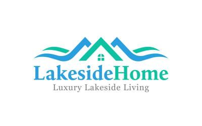 Luxury Lakeside Home Real Estate Logo Design