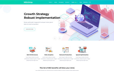 Minima - Digital and Online Marketing Joomla Template