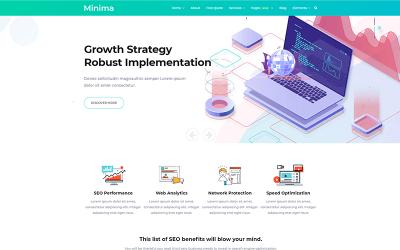 Minima - digitális és online marketing Joomla sablon