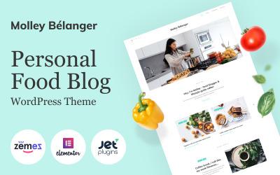 Molley Belanger - Hikaye anlatımı için yemek blogu WordPress Teması
