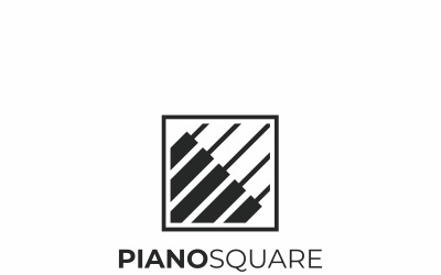 Klavírní hudba Logo šablona