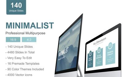 Modelo de apresentação minimalista em PowerPoint