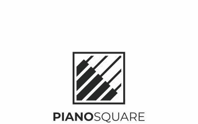 Modelo de logotipo de música de piano