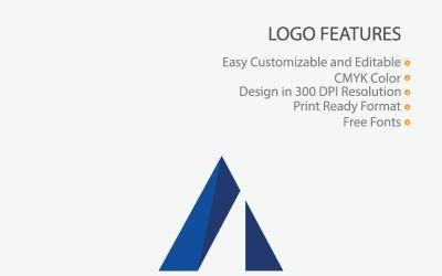Creative A Letter Polygon Design Logo Template