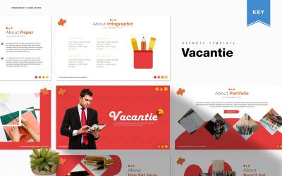 Vacantie - modelo de apresentação
