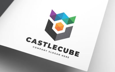 Creative Castle Cube Logo Template