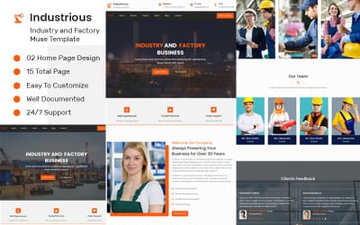 Industrious - Industry And Factory Muse Template