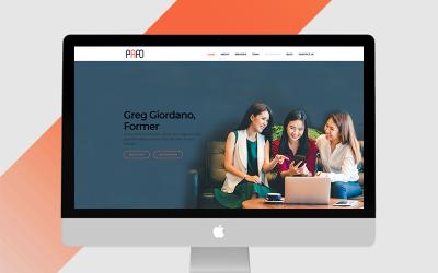 Papo - Modèle de page de destination entreprise, agence, entreprise