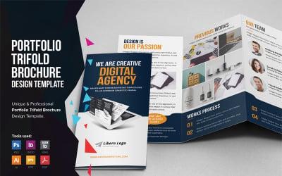 Bifrost - Portfolio Trifold Brochure Design - Corporate Identity Template
