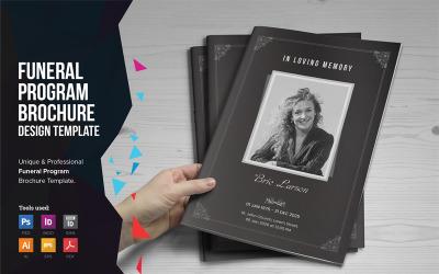 Ashfi - Funeral Program A5 Brochure - Corporate Identity Template