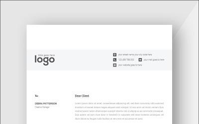 Black & White Minimal Letterhead - Corporate Identity Template