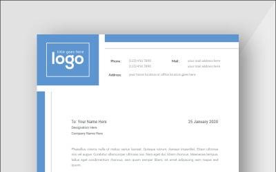 Blue Letterhead - Corporate Identity Template